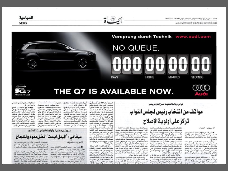 Q7 Print Ad Countdown Newspaper