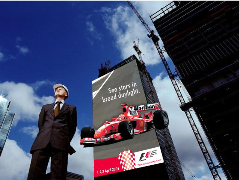 F1 Construction Hoarding