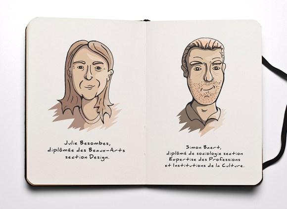 Portraits équipe de Créa-PLume