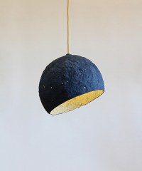 "Paper pulp pendant lamp ""Pluto"" - crea-re.com - eco design"