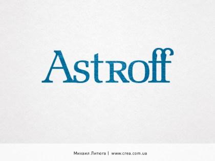 «Astroff» logo design