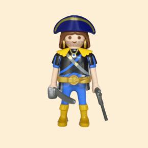 Corsaire bleu et jaune