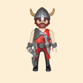 viking rouge casque à cornes
