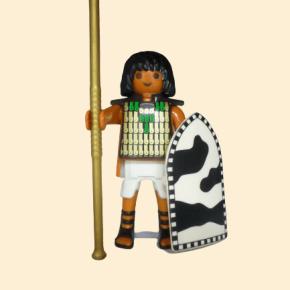 Égyptien, lance et bouclier