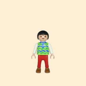 Enfant rouge et vert