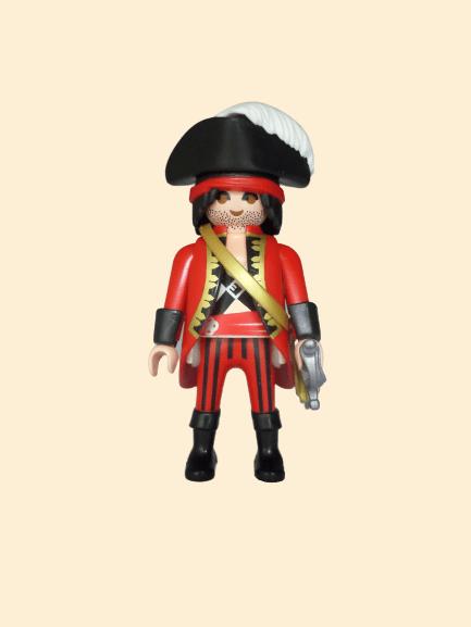 Pirate manteau rouge