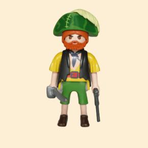 Pirate jaune et vert