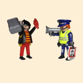 playmobil voleur et policier