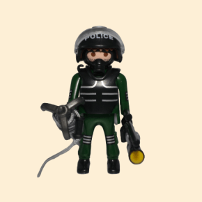 playmobil policier force de l'ordre