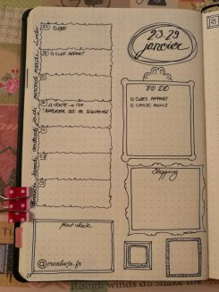 Weekly Log Weekly Spread Bujo Bullet journal