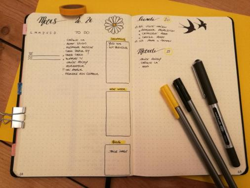 Weekly log - Bullet journal