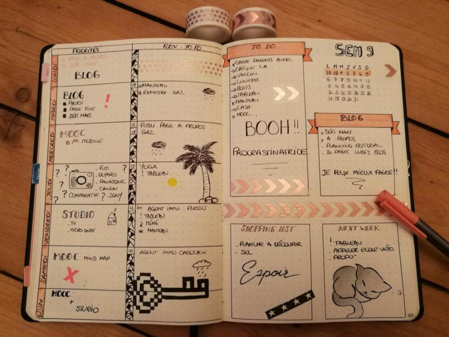 Weekly-log- bullet journal