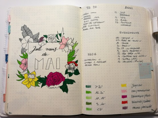 Monthly log - Bullet journal