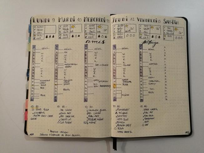 Présentation de daily log - bullet journal