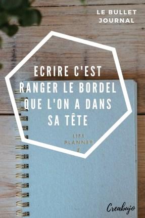 Bullet journal - écrire