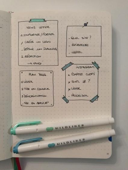 Suivi projet - bullet journal