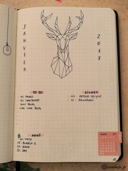 mise en page - monthly log
