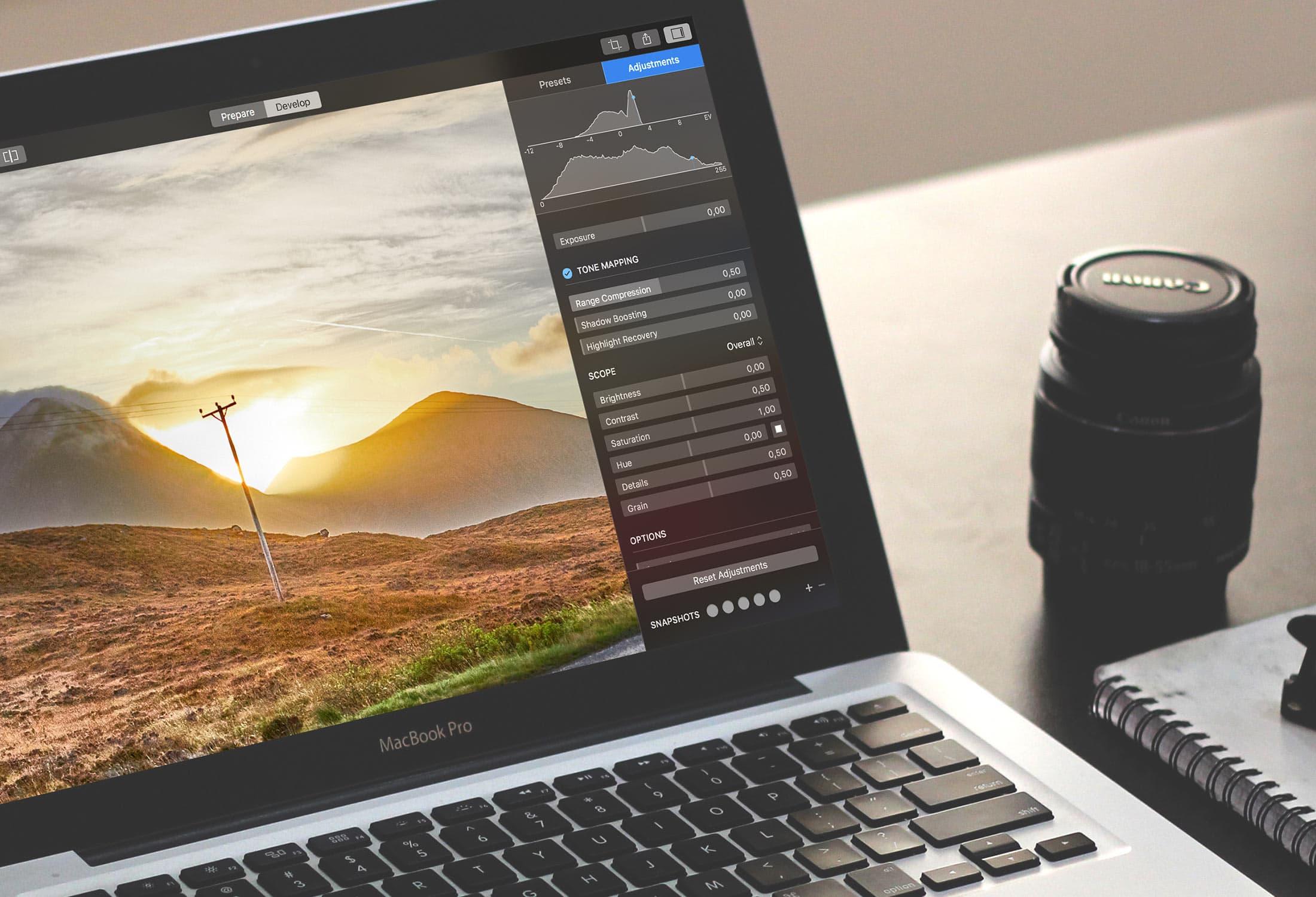Hydra 4.5 Mac 中文破解版 - HDR图片创建工具