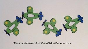 embellissement avions vert