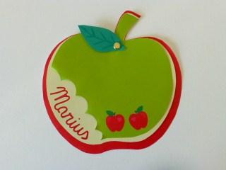 faire-part naissance personnalisé pomme prénom découpe-variante