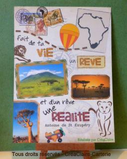 Affiche poster personnalisée Voyage Afrique Saint Exupéry-mini