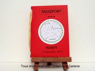 Carte départ retraite personnalisée passeport voyage-face