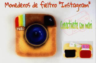 Cómo hacer monederos de fieltro instagram, manualidades con paño lenci