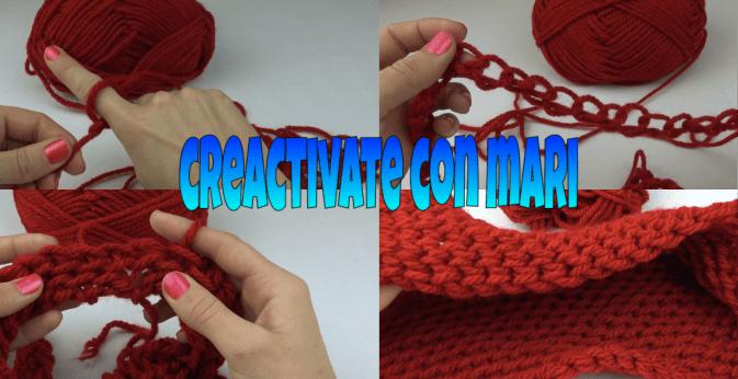 como tejer bufandas con las manos