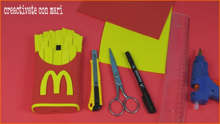 Diy funda de móvil papas del McDonald´s con foamy
