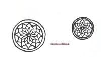 dibujar mandalas en plastico magico