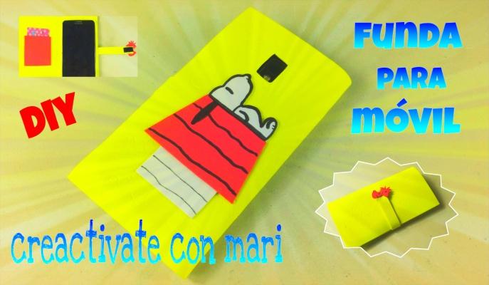 Cómo hacer fundas de móvil Snoopy con goma eva o foamy