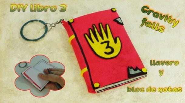 Diy libro gravity falls 3 ¡Llavero y bloc de notas!