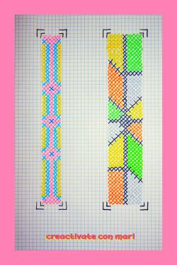 patrón bordados pulseras