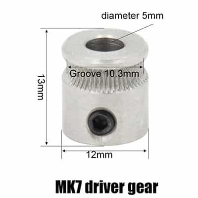 roue mk8 12 x 13 imprimante 3d