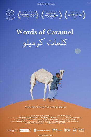 Cartel del cortometraje 'Palabras de Caramelo'