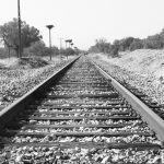 Ferrocarril de Extremadura 2017. Tramo de Mérida-Cáceres con traviesas de madera