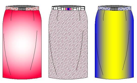 Moldes de falda linea recta de dama