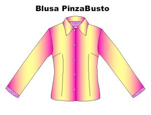 Moldes de blusas con las pinzas en el talle y al busto lateralmente
