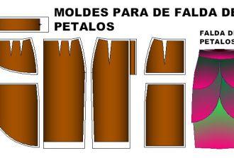 Tallaje para costura de faldas de petalos