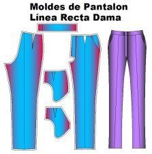 Molderia de modelo de pantalón recto de dama