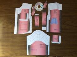 Tallaje de moldes para corpiños de bebes
