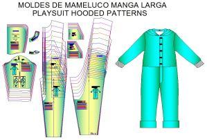 Plantillas para fabricar mamelucos de niños de 4 a 12 años.