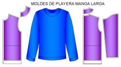 Moldes playera normal manga larga