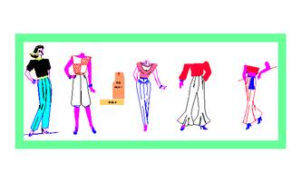 diseña 5 modelos de pantalones de mujer