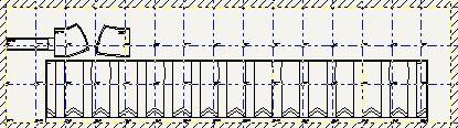 Mapa de Armado de las Hojas de Moldes para confeccionar falda clásica con tablones desde la cadera.