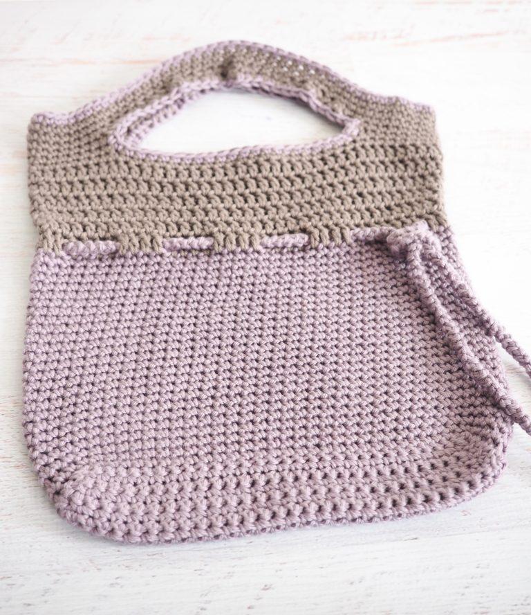 Lilac Roped Bag Crochet Pattern Crochet