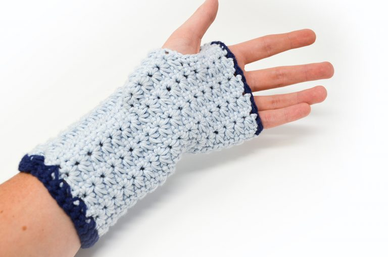 Star Stitch Fingerless Gloves Crochet Pattern – Crochet