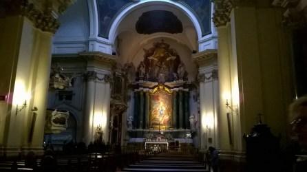 Interior de la iglesia. Foto de la autora.