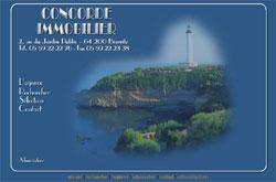 1ère version du site de l'agence Concorde Immobilier à Biarritz