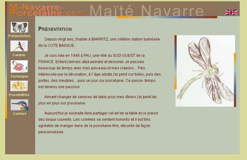 Maïté Navarre est une artiste qui peint à la main des porcelaines. Visitez sa galerie !